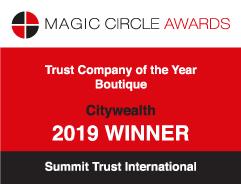 Magic circle award Trust company of the year 2019